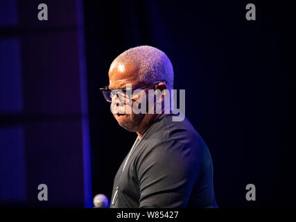 Cracow, Poland - July 17, 2019: Terence Blanchard and The E-Collective on stage in Manggha Museum of Japanese Art and Technology at the Summer Jazz Fe - Stock Photo