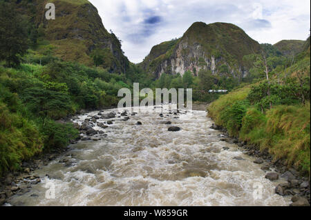 Baiyer River in Western Highlands, Papua New Guinea - Stock Photo