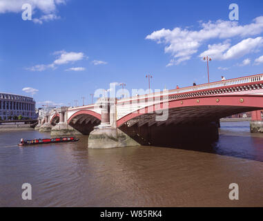 Blackfriars Bridge over River Thames, City of London, London, England, United Kingdom - Stock Photo