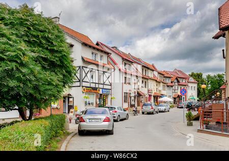 Dobre Miasto, ger. Guttstadt, warmian-mazurian province, Poland. John Paul II street, - Stock Photo