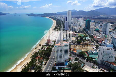 Panorama of Nha Trang, Vietnam - Stock Photo