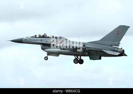 Danish General Dynamics F-16AM/BM Fighting Falcon at RIAT 2019 at Fairford, UK - Stock Photo