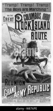 .. The  Great Rock Island route to the reunion of the Grand Army of the Republic - Stock Photo