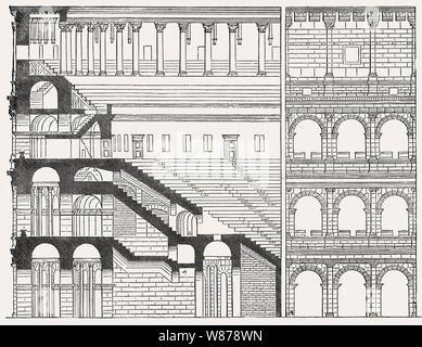 The Colosseum, ancient Amphitheatre, Rome, Italy - Stock Photo