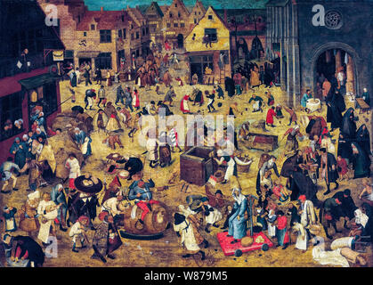 Pieter Brueghel the Younger, The Combat between Carnival and Lent, painting, 1600-1638 - Stock Photo