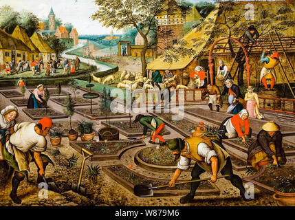 Pieter Brueghel the Younger, The Four Seasons, Spring, painting, 1564-1638 - Stock Photo