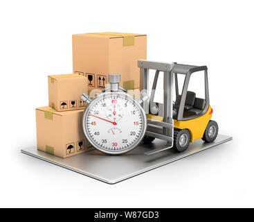 Delivery concept. 3d image. Isolated white background. - Stock Photo