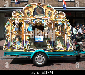 A traditional Dutch  Street Organ in Middelburg, The Netherlands - Stock Photo