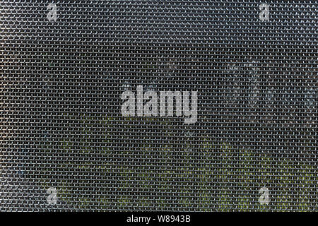 Metal mesh, stainless steel texture, full background. Industrial decorative material - Stock Photo