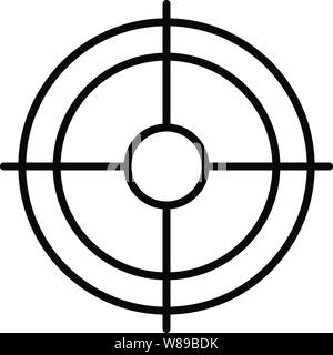 Shooting target icon, outline style - Stock Photo