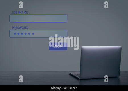 Username and password. Global network connection - Stock Photo