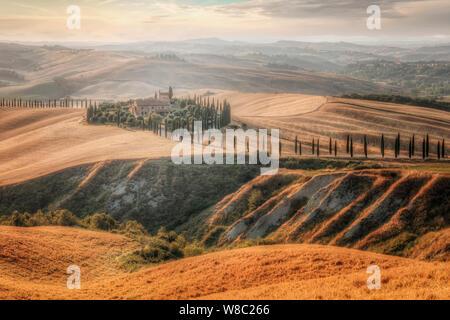 Asciano, Tuscany, Italy, Europe - Stock Photo