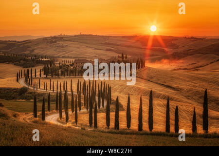 Asciano, Tuscany, Italy, Europe - Stock Photo