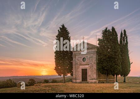 Cappella della Madonna di Vitaleta, San Quirico, Tuscany, Italy, Europe