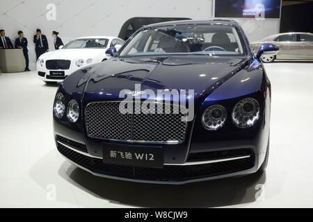 --FILE--Bentley New Flying Spur and Continental GT cars are on display during the 12th China (Guangzhou) International Automobile Exhibition, also kno - Stock Photo