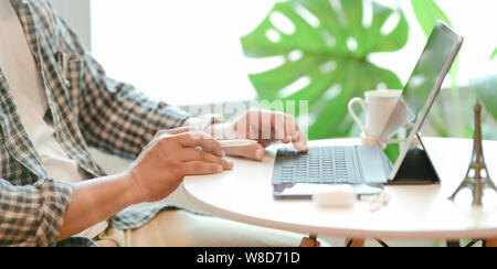 Young successful businessman preparing his strategy plan for the next meeting - Stock Photo