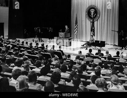 John Fitzgerald Kennedy, Press Conference, Washington, June 1961 - Stock Photo