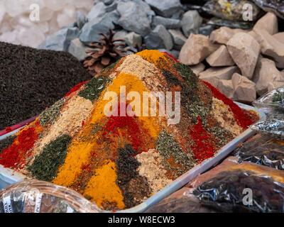 Gewürze auf dem Basar, Samarkand, Usbekistan, Asien  spices, Bazaar in Samarkand, Uzbekistan, Asia - Stock Photo