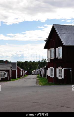 Das beschaulich-idyllische Kirchdorf bei Luleà (Gammelstad). Es gehört zum UNESCO-Weltkulturerbe. - Stock Photo
