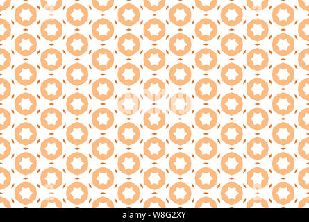 Seamless pattern. White background and shaped diamonds and stars in brown tints. - Stock Photo