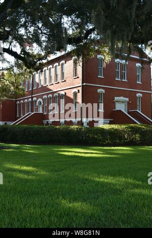 I created this architectural photograph of the Historic Osceola County Courthouse in 2019. - Stock Photo