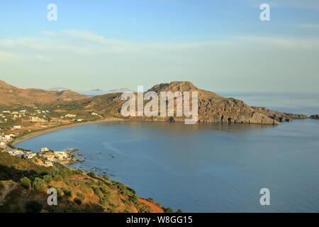 Crete island, beautiful beach and fishing village Plakias. Greece - Stock Photo