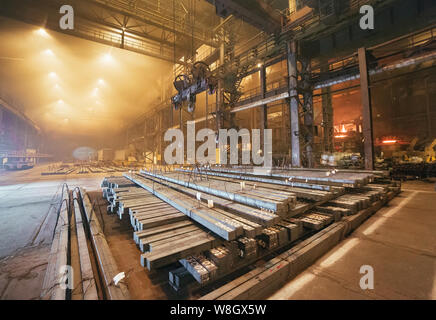 Warehouse metal blank. Electroplating plant for the metal - Stock Photo