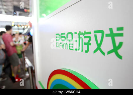 FILE--People visit the stand of Qihoo 360 during the Mobile