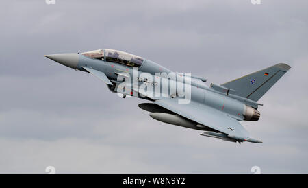 German EF-2000 Typhoon at the Royal International Air Tattoo 2019 - Stock Photo