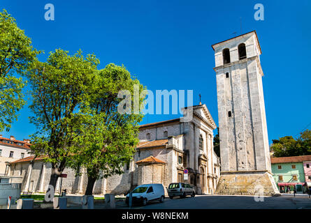 The Pula Cathedral in Croatia - Stock Photo