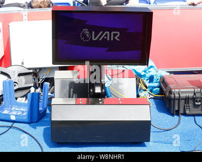 London, UK. 10th Aug, 2019. VAR during English Premier League between Crystal Palace and Everton at Selhurst Park Stadium, London, England on 10 August 2019 Credit: Action Foto Sport/Alamy Live News - Stock Photo
