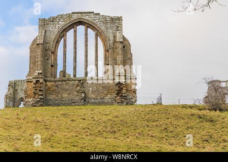 Egglestone Abbey near Barnard Castle a market town Teesdale, County Durham, England. - Stock Photo