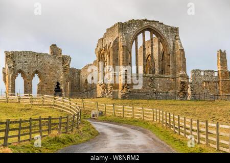 Egglestone Abbey near Barnard Castle a market town Teesdale, County Durham, England - Stock Photo