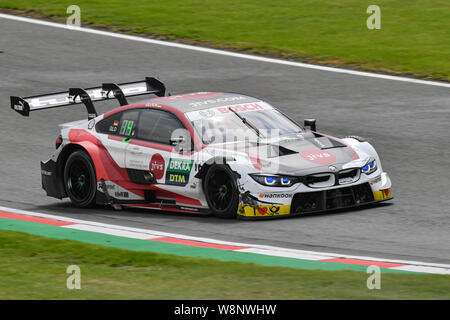 KENT, UNITED KINGDOM. 10th Aug, 2019. Timo Glock (BMW Team RMR) in DTM Race 1 during DTM (German Touring Cars) and W Series at Brands Hatch GP Circuit on Saturday, August 10, 2019 in KENT, ENGLAND. Credit: Taka G Wu/Alamy Live News - Stock Photo