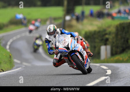 Belfast, Northern Ireland, UK. Belfast, N ireland, UK. 10th August, 2019. Ulster Grand Prix road races, race day; Peter Hickman (Smiths Racing BMW) takes his 5th win of the 2019 Ulster Grand Prix in the Superbike race - Editorial Use Only Credit: Action Plus Sports Images/Alamy Live News Credit: Action Plus Sports Images/Alamy Live News Credit: Action Plus Sports Images/Alamy Live News - Stock Photo