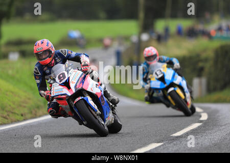 Belfast, Northern Ireland, UK. Belfast, N ireland, UK. 10th August, 2019. Ulster Grand Prix road races, race day; Davey Todd (Penz13.com BMW) finishes the Superbike 1 race in 5th place - Editorial Use Only Credit: Action Plus Sports Images/Alamy Live News Credit: Action Plus Sports Images/Alamy Live News - Stock Photo