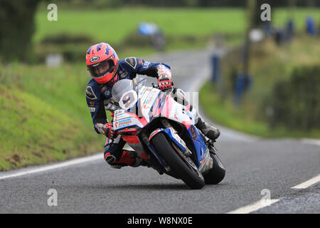 Belfast, Northern Ireland, UK. Belfast, N ireland, UK. 10th August, 2019. Ulster Grand Prix road races, race day; Davey Todd (Penz13.com BMW) finishes in 5th place in the Superbike race - Editorial Use Only Credit: Action Plus Sports Images/Alamy Live News Credit: Action Plus Sports Images/Alamy Live News - Stock Photo