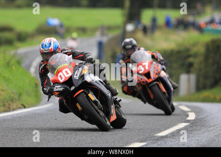 Belfast, Northern Ireland, UK. Belfast, N ireland, UK. 10th August, 2019. Ulster Grand Prix road races, race day; Patricia Fernandez (Magic Bullet Racing Kawasaki) during the Superbike race - Editorial Use Only Credit: Action Plus Sports Images/Alamy Live News Credit: Action Plus Sports Images/Alamy Live News - Stock Photo
