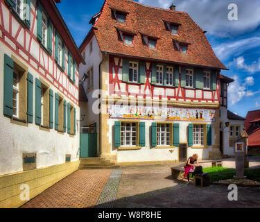 DE - BADEN-WÜRTTEMBERG: Former chapel of St Catherine ('Katharinenkapelle') in the historic town of Eppingen.  (HDR-Image) - Stock Photo