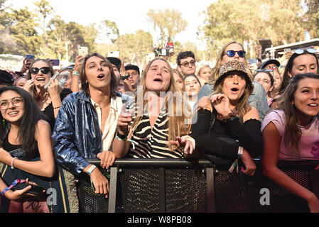 SanFrancisco, USA. 09th August, 2019. Fans/Atmosphere during the 2019 Outside Lands music festival at Golden Gate Park on August 09, 2019 in San Francisco, California. Photo: imageSPACE/MediaPunch Credit: MediaPunch Inc/Alamy Live News - Stock Photo