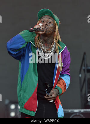 SanFrancisco, USA. 09th August, 2019. Lil Wayne performs during the 2019 Outside Lands music festival at Golden Gate Park on August 09, 2019 in San Francisco, California. Photo: imageSPACE/MediaPunch Credit: MediaPunch Inc/Alamy Live News - Stock Photo