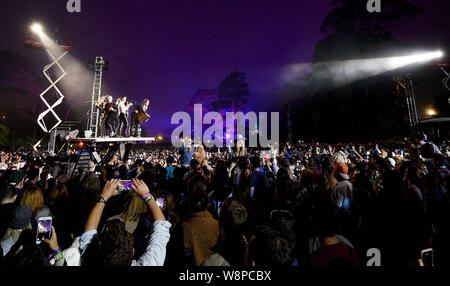 SanFrancisco, USA. 09th August, 2019. The Lumineers perform during the 2019 Outside Lands music festival at Golden Gate Park on August 09, 2019 in San Francisco, California. Photo: imageSPACE/MediaPunch Credit: MediaPunch Inc/Alamy Live News - Stock Photo