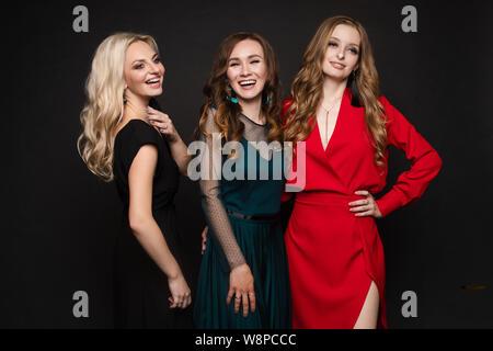 Gorgeous ladies in evening dresses.Year evening celebration birthday concept. - Stock Photo