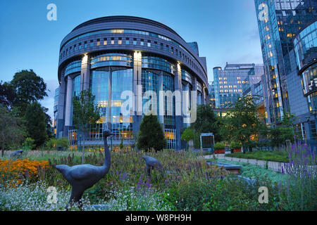 Paul Henri Spaak Building in the Hemicycle of the European Parliament Complex at the Espace Leopold, Brussels, Belgium