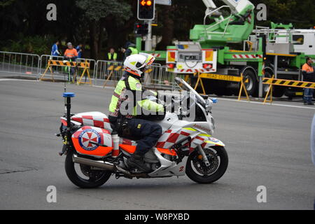 Medics and ambulance, Sydney - Stock Photo