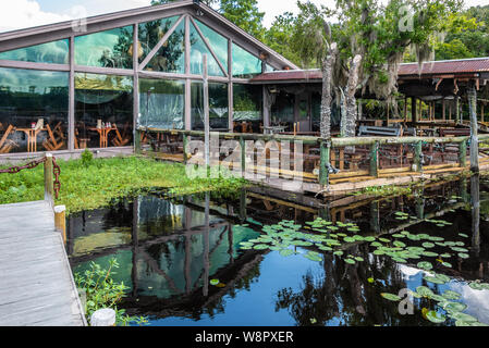 Clark's Fish Camp offers a unique dining experience on Julington Creek in Jacksonville, FL with the largest private taxidermy collection in the US. - Stock Photo