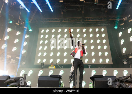American rapper Young Thug performing at Breakout Festival day 2 at the PNE Amphitheatre in Vancouver, BC on  June 16th, 2019 - Stock Photo