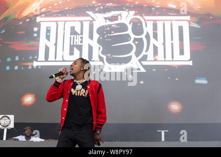 American rapper Rich The Kid performing at Breakout Festival day 2 at the PNE Amphitheatre in Vancouver, BC on  June 16th, 2019 - Stock Photo
