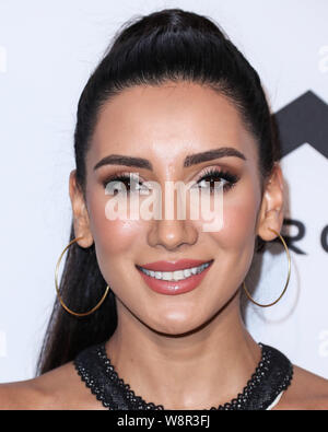 Beverly Hills, United States. 10th Aug, 2019. BEVERLY HILLS, LOS ANGELES, CALIFORNIA, USA - AUGUST 10: Sadaf arrives at the UOMA Beauty Summer Party held at a Private Residence on August 10, 2019 in Beverly Hills, Los Angeles, California, United States. (Photo by Xavier Collin/Image Press Agency) Credit: Image Press Agency/Alamy Live News - Stock Photo