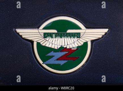 1990 Aston Martin V8 Vantage Volante Zagato car badge - Stock Photo